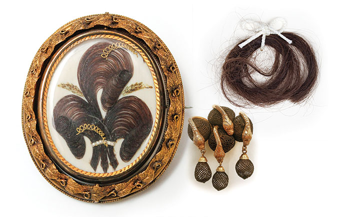 Items from the Talismans of Memory, Love, and Beauty exhibition.