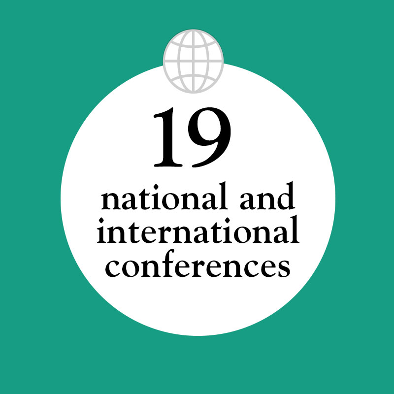 19 national and international conferences