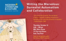 MLC Seminar: Writing the Marvelous: Surrealist Automatism and Collaboration